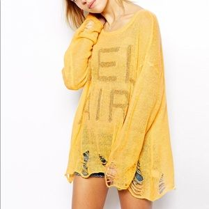 Wildfox Distressed BelAir Sweater Size Small